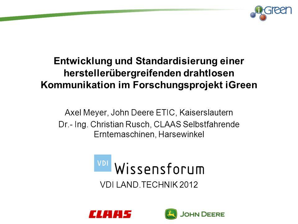 Axel Meyer, John Deere ETIC, Kaiserslautern