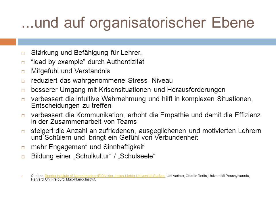 ...und auf organisatorischer Ebene