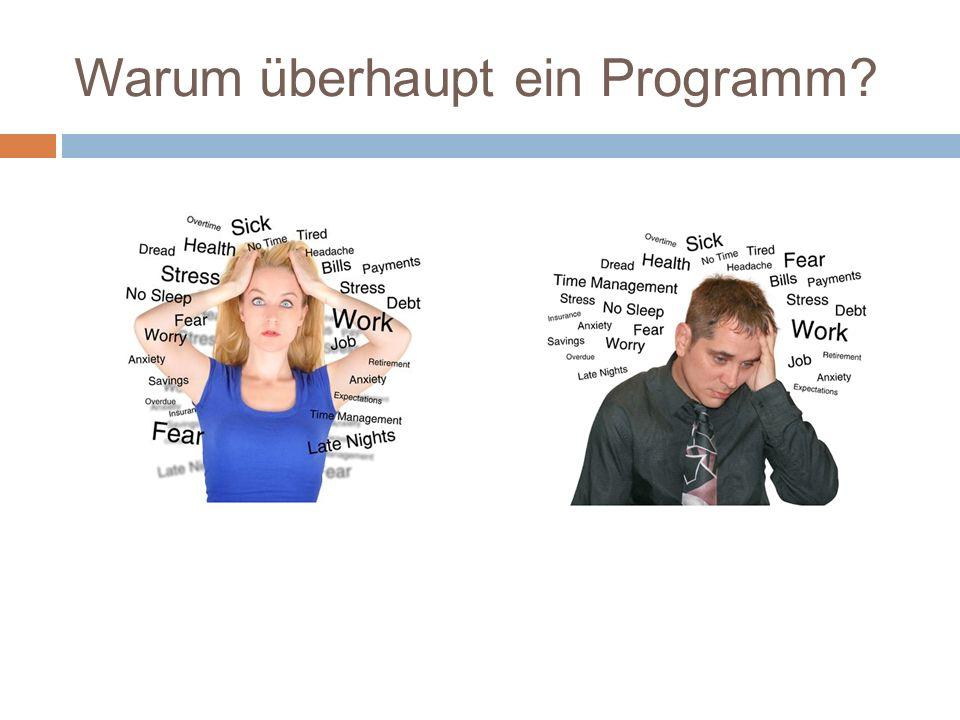 Warum überhaupt ein Programm