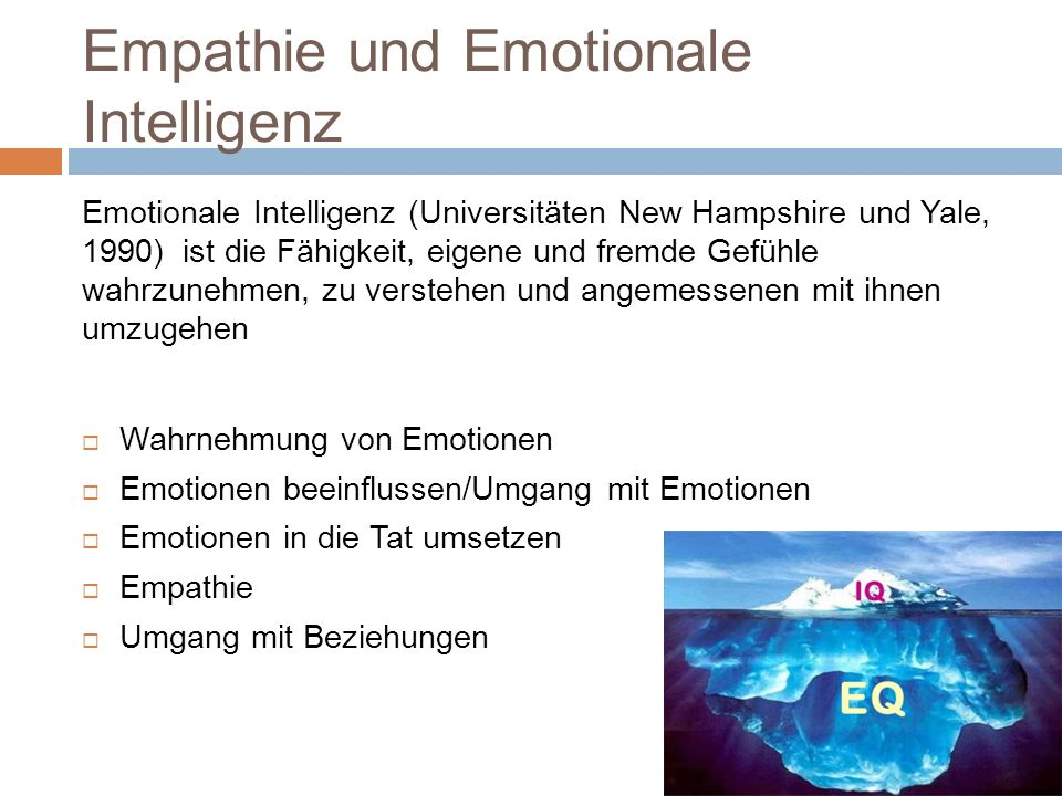 Empathie und Emotionale Intelligenz