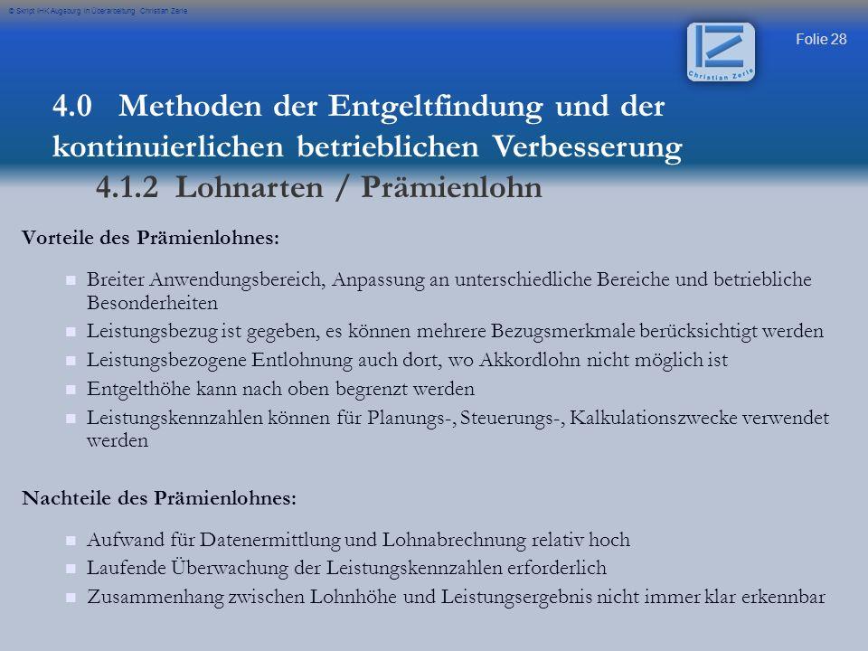 4.1.2 Lohnarten / Prämienlohn