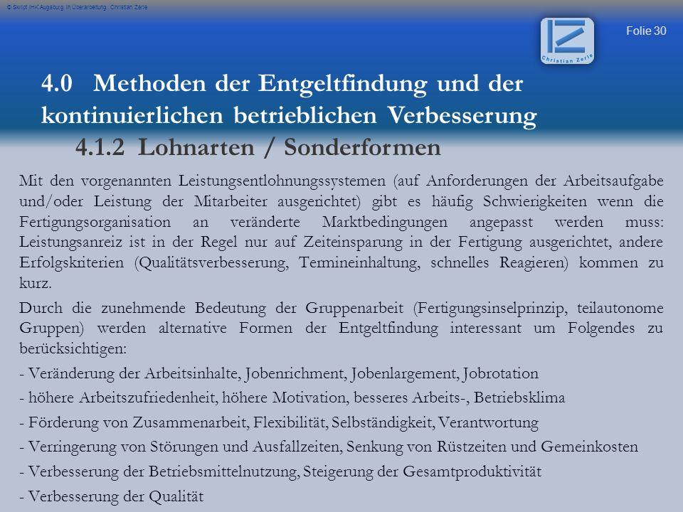 4.1.2 Lohnarten / Sonderformen
