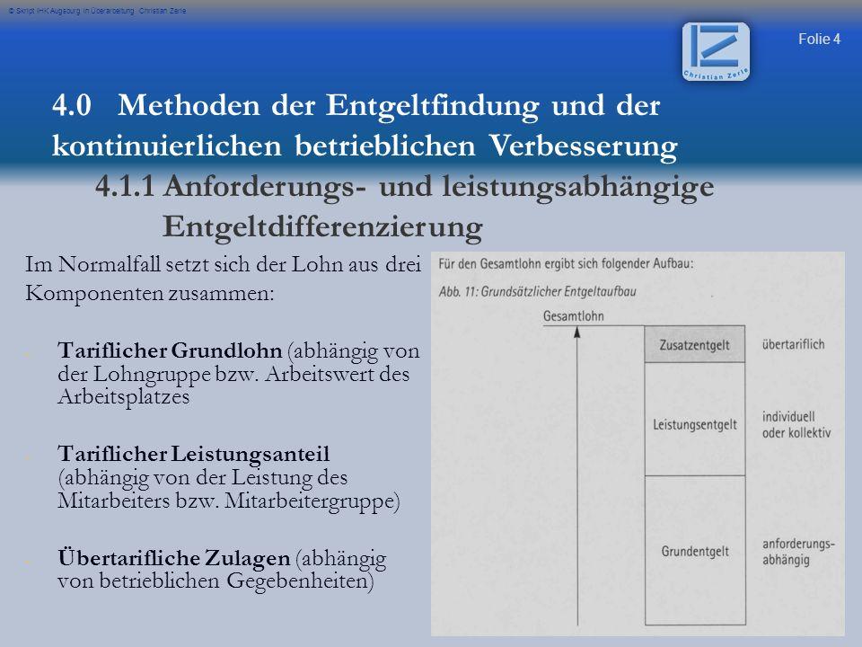 4.1.1 Anforderungs- und leistungsabhängige Entgeltdifferenzierung