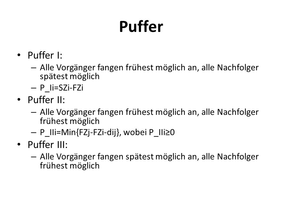 Puffer Puffer I: Puffer II: Puffer III:
