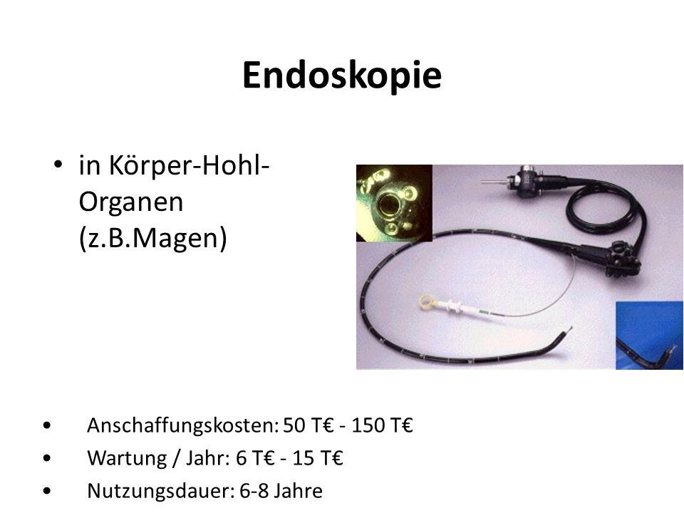 Endoskopie in Körper-Hohl-Organen (z.B.Magen)