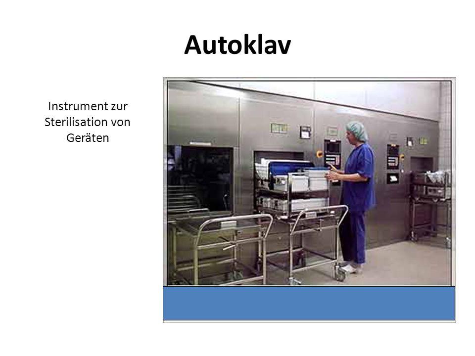 Instrument zur Sterilisation von Geräten