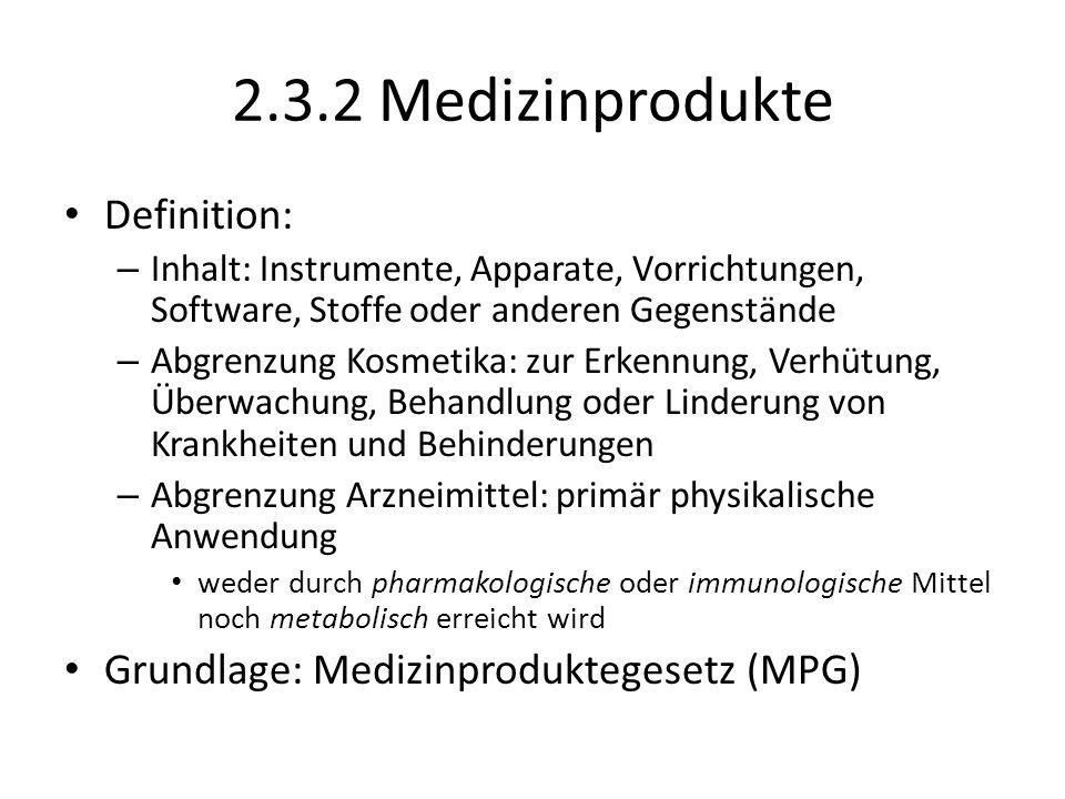 2.3.2 Medizinprodukte Definition: