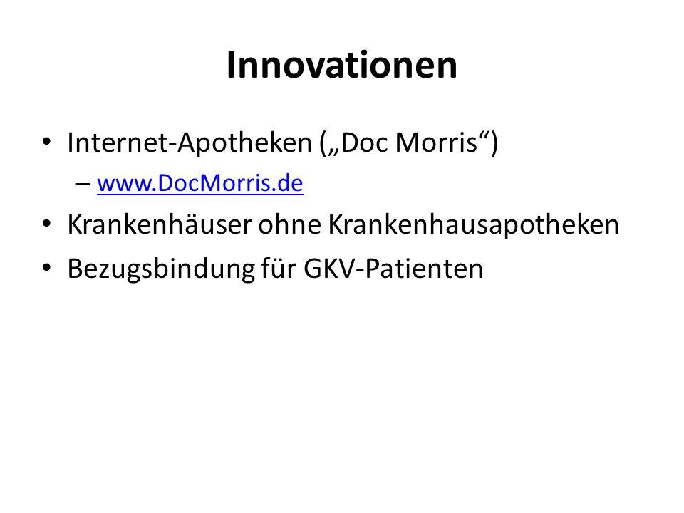 "Innovationen Internet-Apotheken (""Doc Morris )"