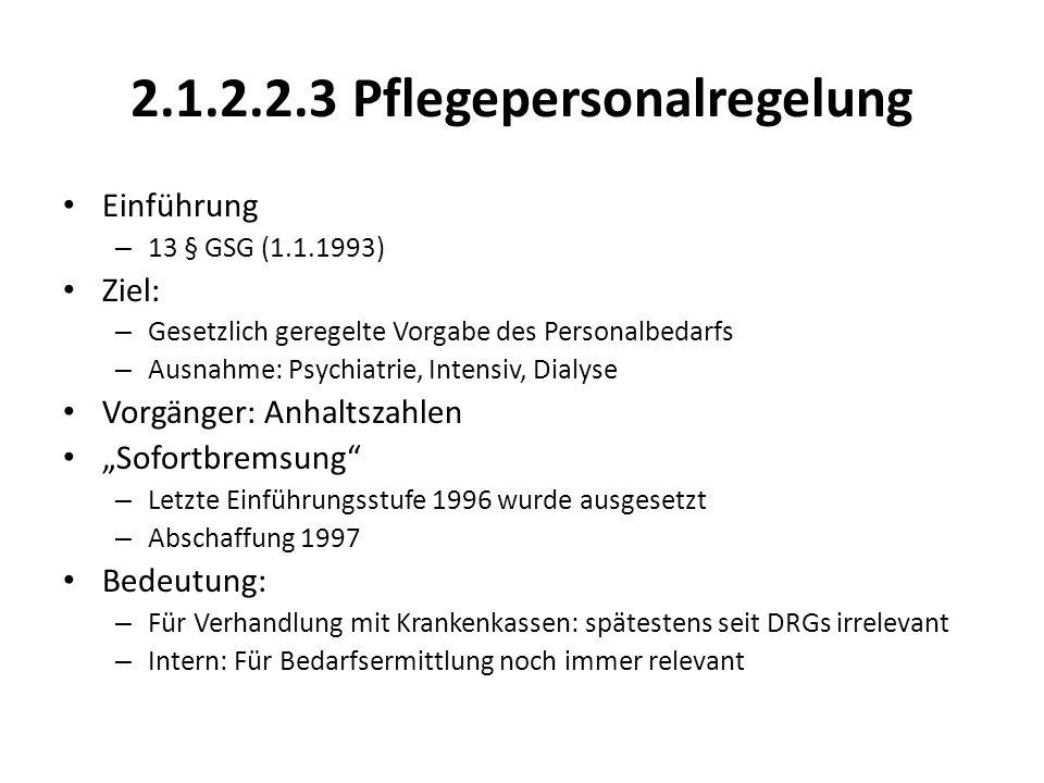 2.1.2.2.3 Pflegepersonalregelung