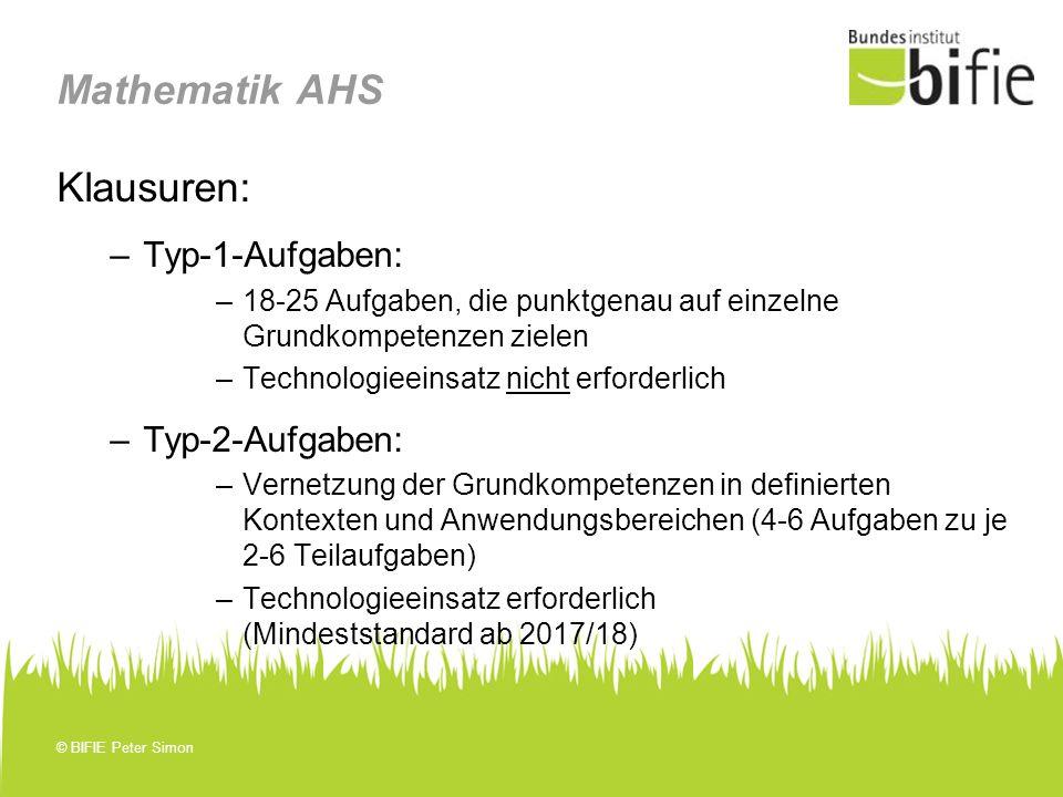 Mathematik AHS Klausuren: Typ-1-Aufgaben: Typ-2-Aufgaben: