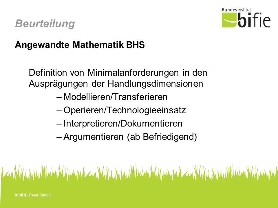 Beurteilung Angewandte Mathematik BHS