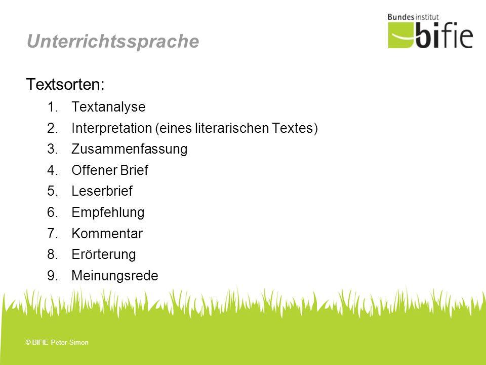 unterrichtssprache textsorten textanalyse - Textsorte Zusammenfassung