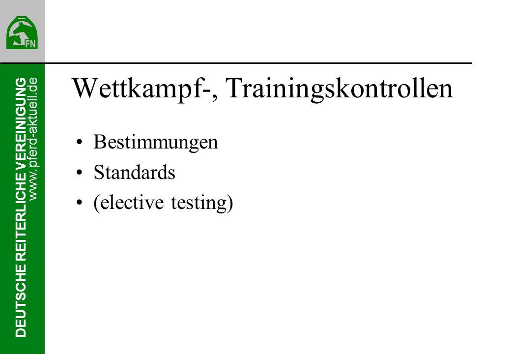 Wettkampf-, Trainingskontrollen