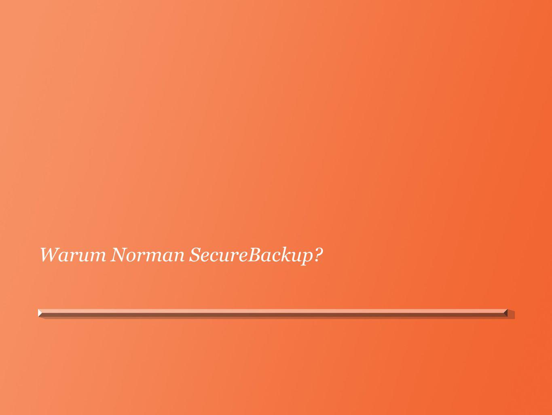 Warum Norman SecureBackup