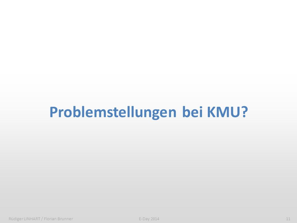 Problemstellungen bei KMU