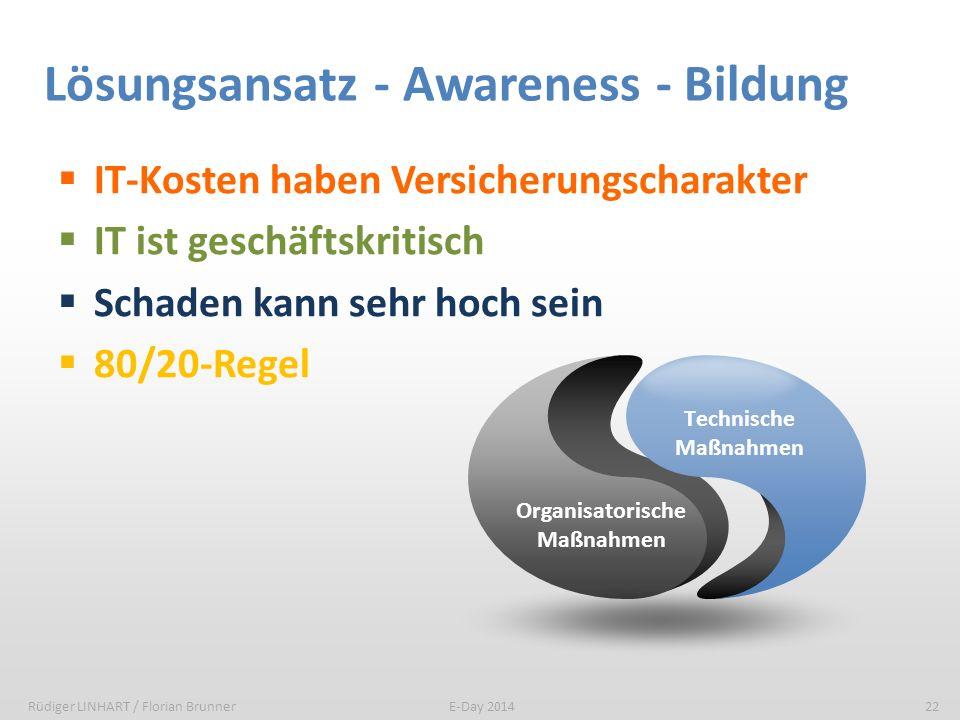 Lösungsansatz - Awareness - Bildung