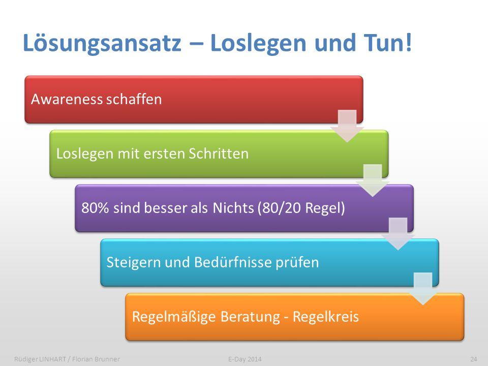 Lösungsansatz – Loslegen und Tun!