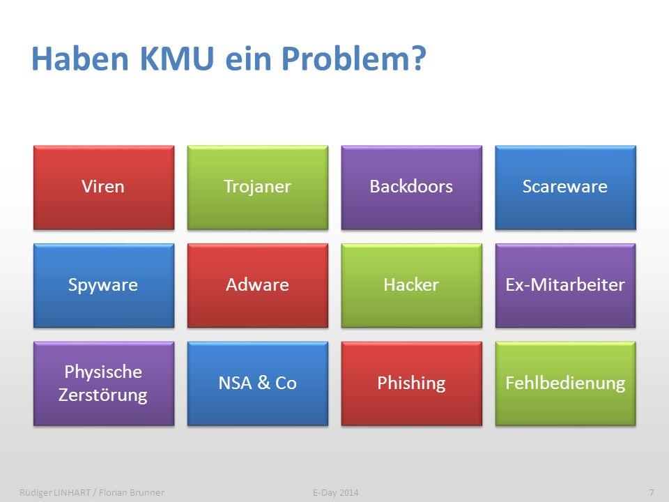 Haben KMU ein Problem Viren Trojaner Backdoors Scareware Spyware