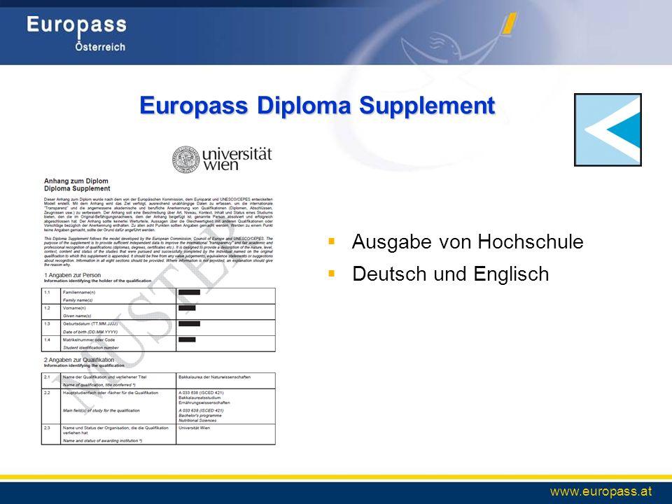 Europass Diploma Supplement