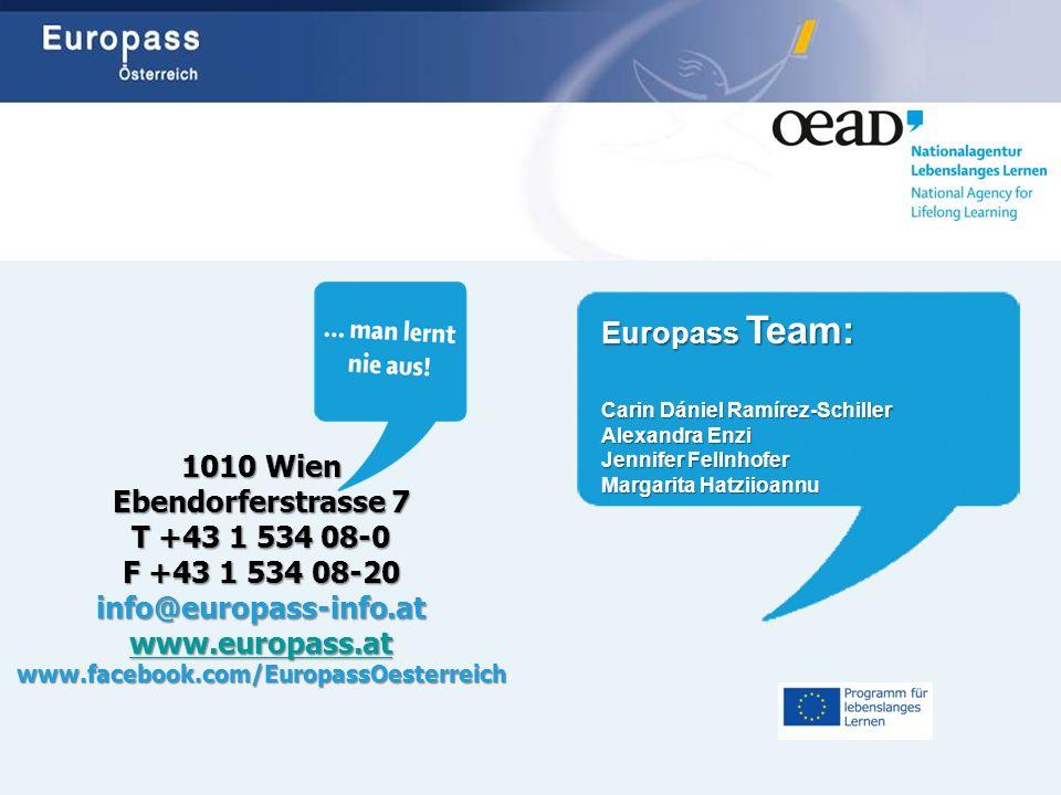 Europass Team: 1010 Wien Ebendorferstrasse 7 T +43 1 534 08-0