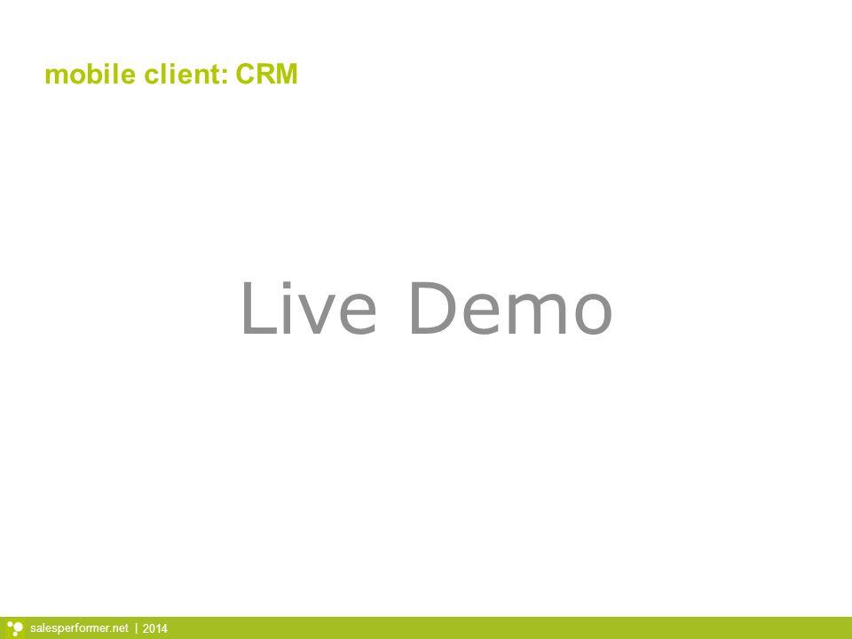 mobile client: CRM Live Demo