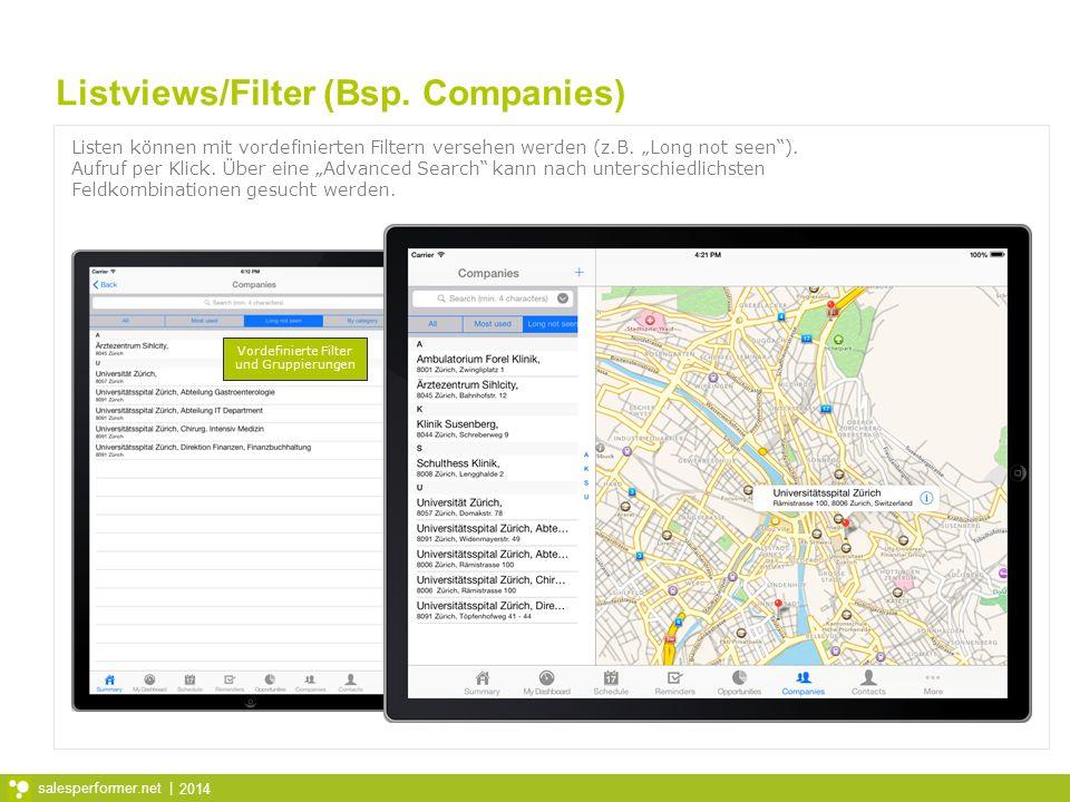 Listviews/Filter (Bsp. Companies)
