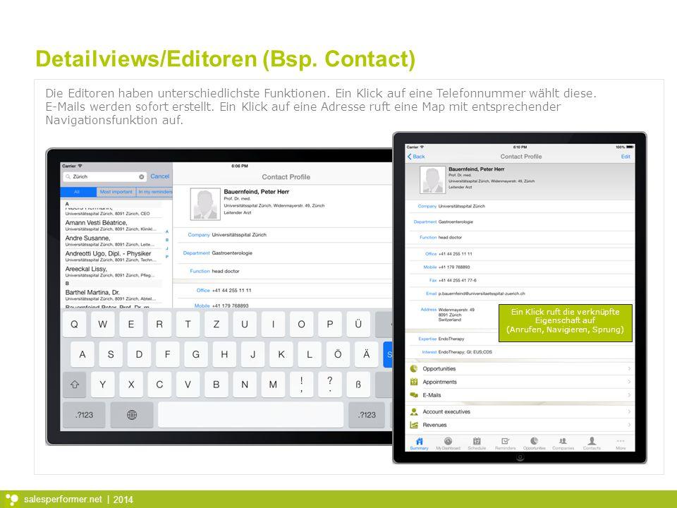 Detailviews/Editoren (Bsp. Contact)