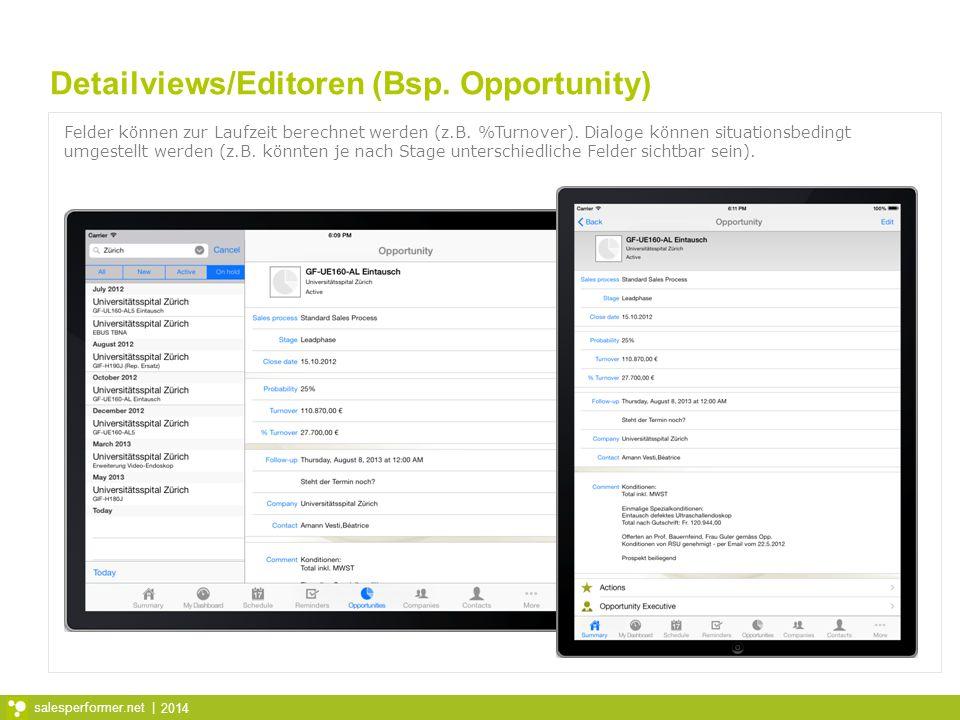 Detailviews/Editoren (Bsp. Opportunity)