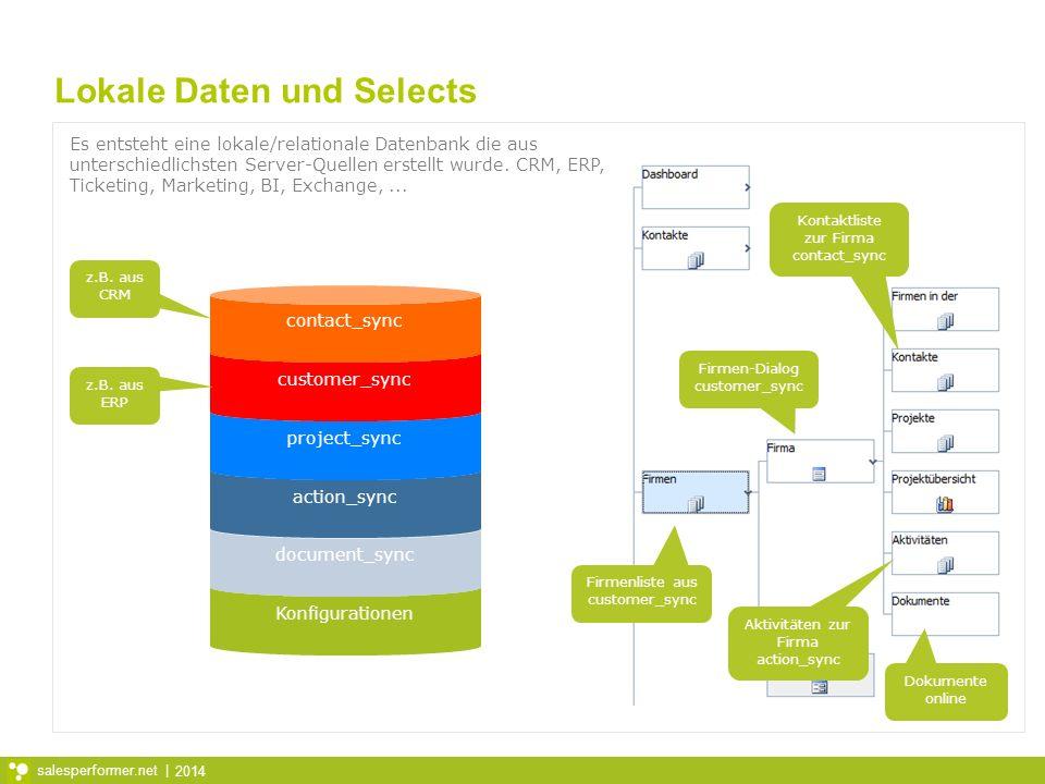Lokale Daten und Selects