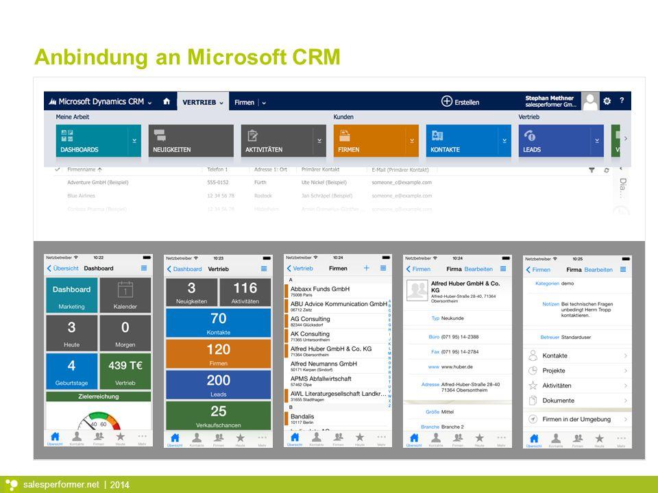 Anbindung an Microsoft CRM