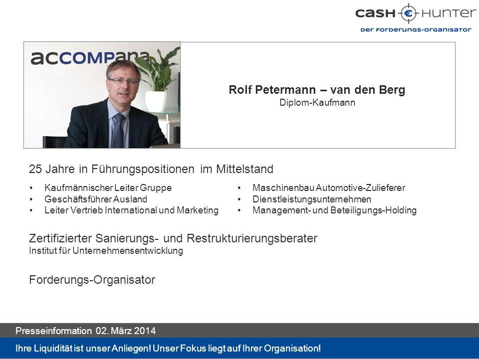 Rolf Petermann – van den Berg Diplom-Kaufmann