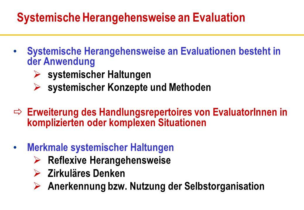 Systemische Herangehensweise an Evaluation