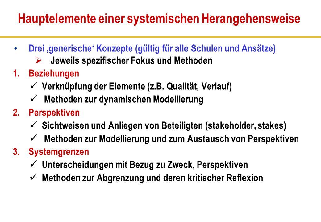 Hauptelemente einer systemischen Herangehensweise