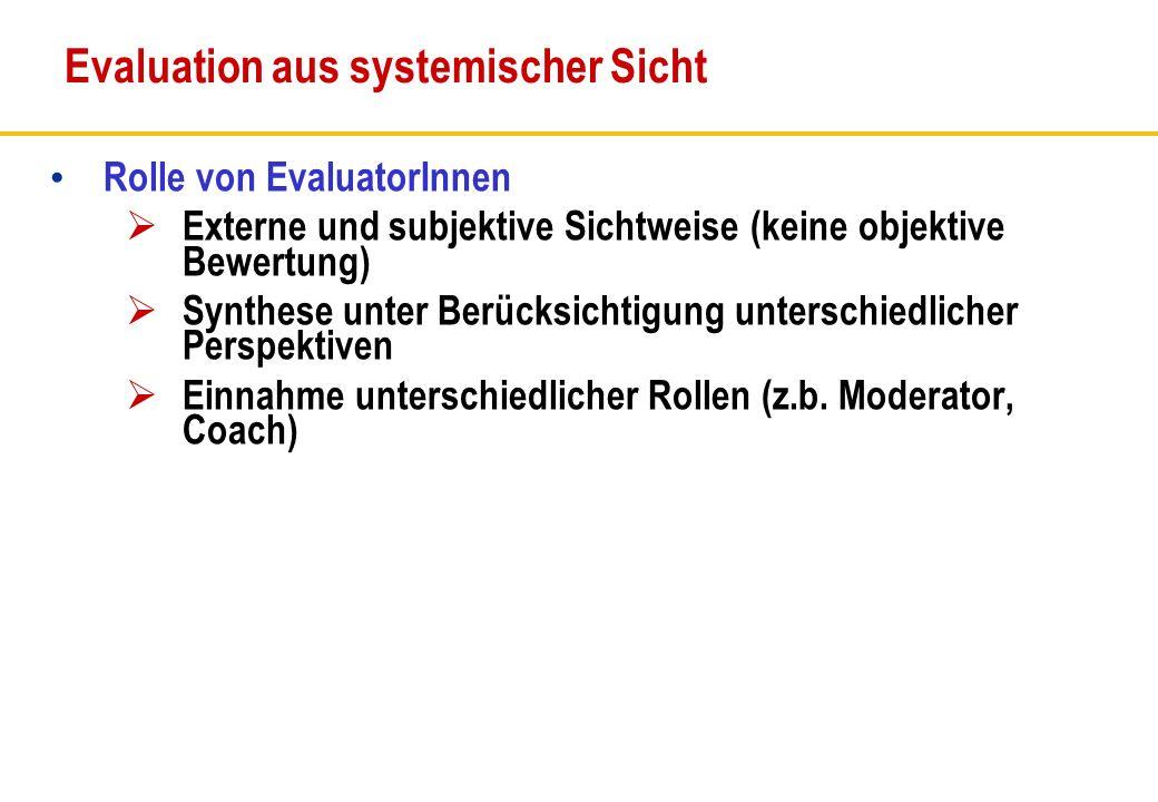 Evaluation aus systemischer Sicht