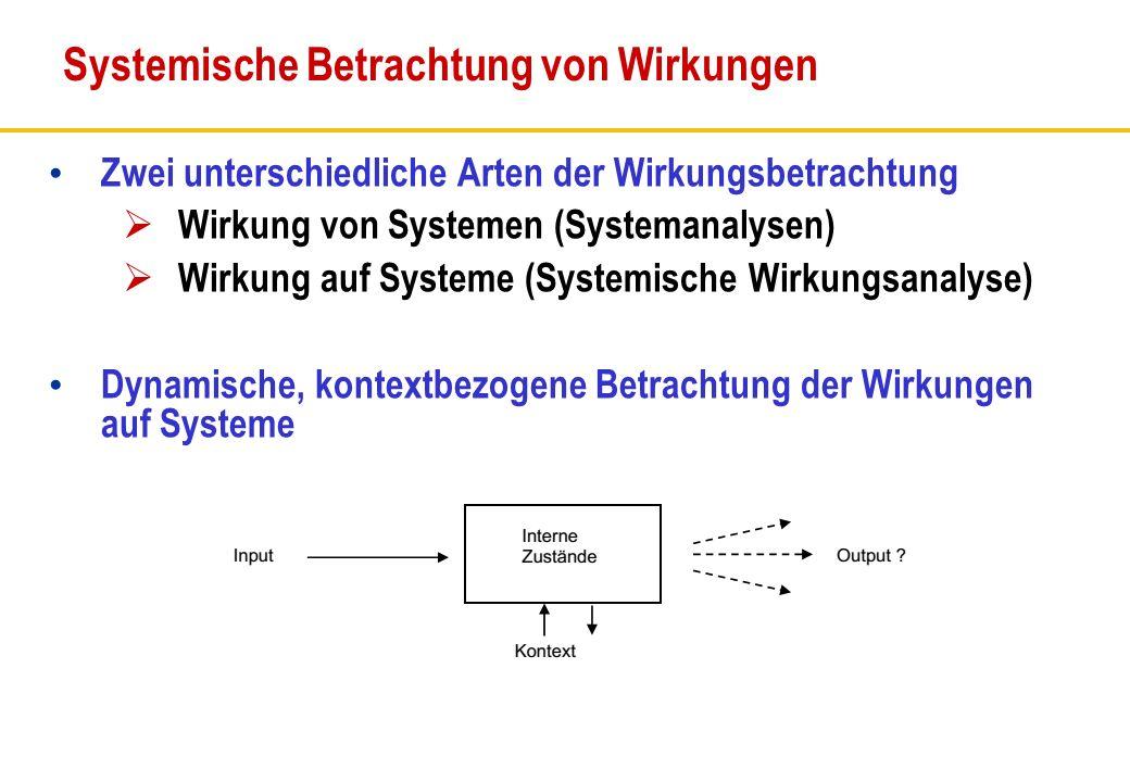 Systemische Betrachtung von Wirkungen