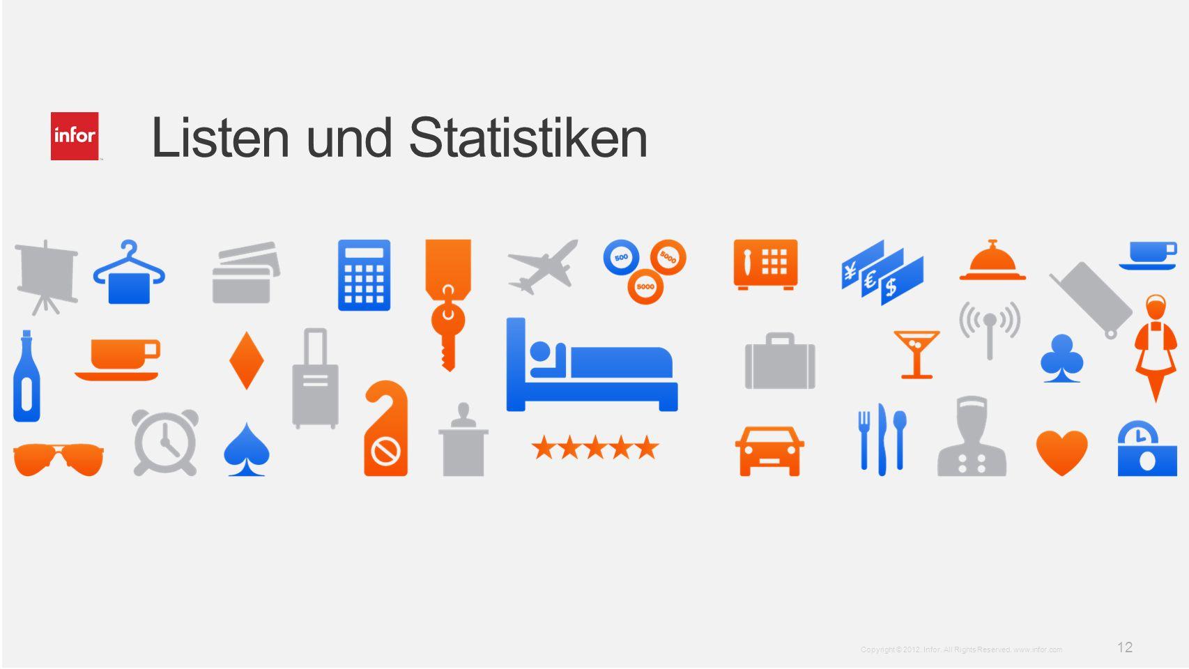 Listen und Statistiken