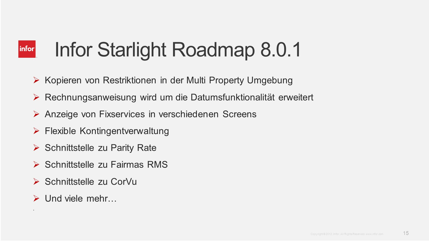 Infor Starlight Roadmap 8.0.1