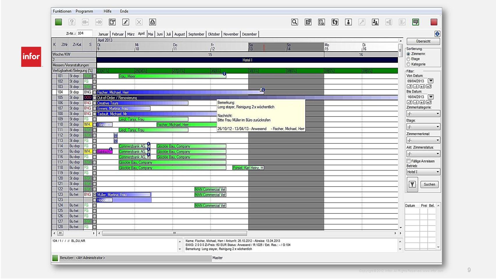 Screenshots Zimmerplan (zwecks Datum noch nicht eingefügt)