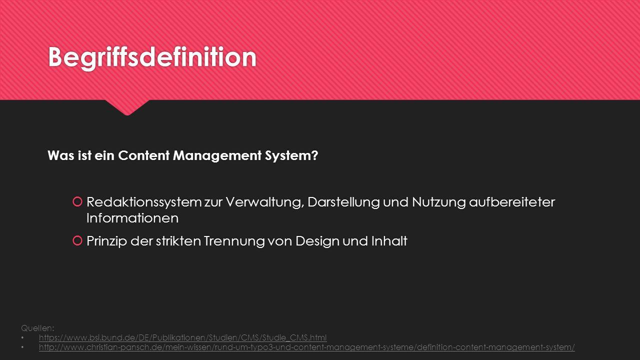 Begriffsdefinition Was ist ein Content Management System