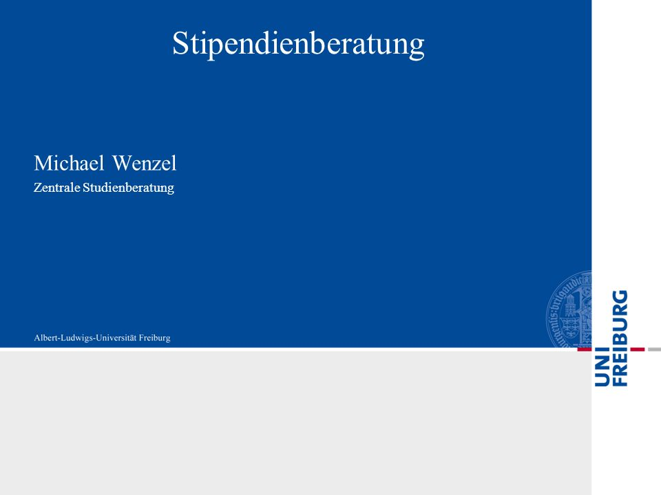 Michael Wenzel Zentrale Studienberatung