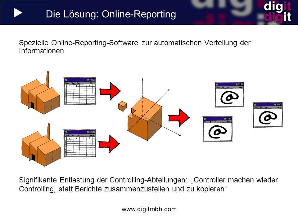 Die Lösung: Online-Reporting