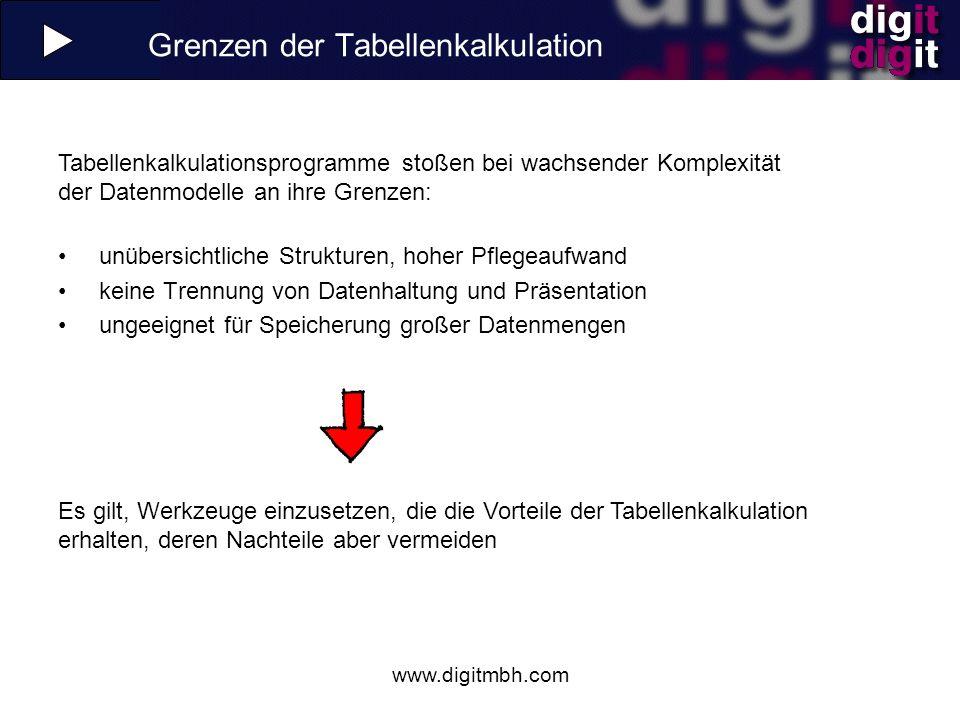 Grenzen der Tabellenkalkulation