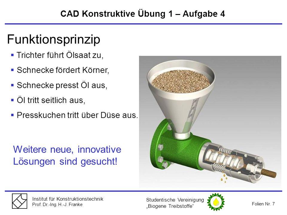 Funktionsprinzip Weitere neue, innovative Lösungen sind gesucht!