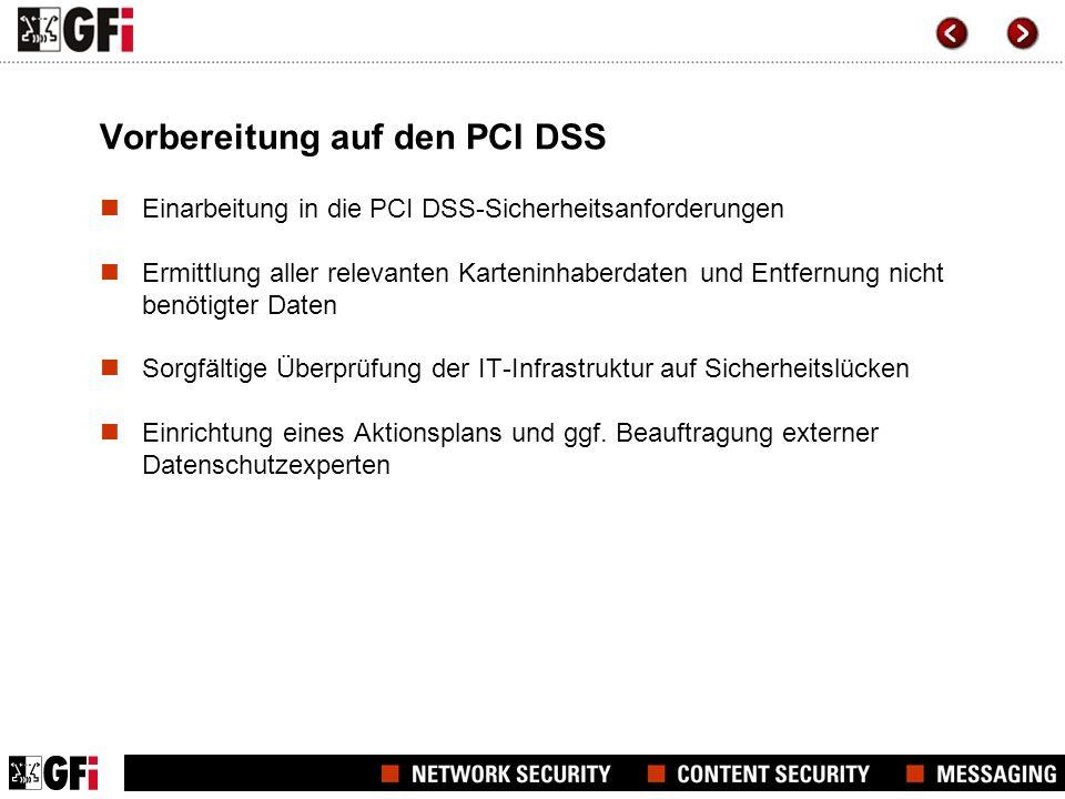 Vorbereitung auf den PCI DSS
