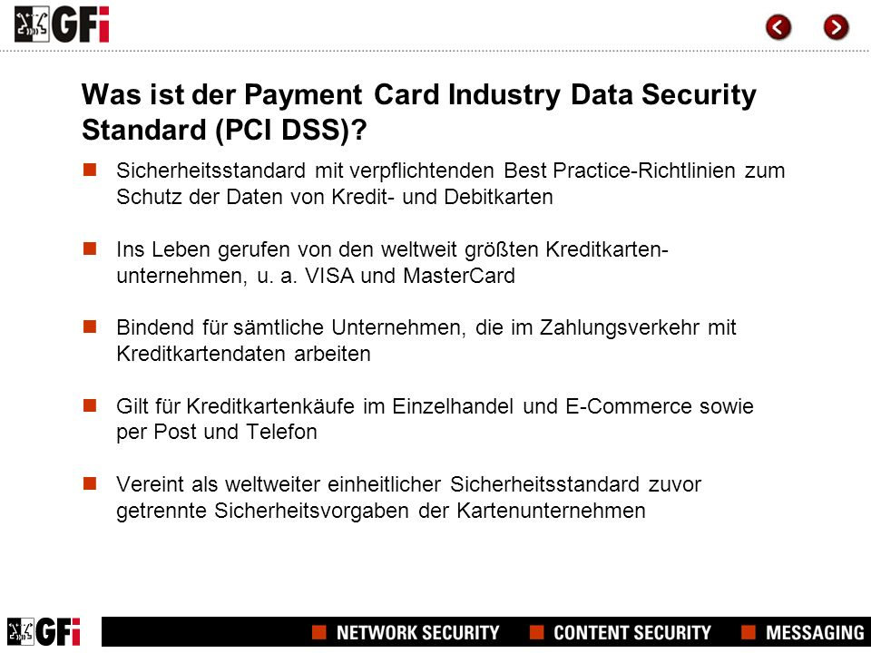 Was ist der Payment Card Industry Data Security Standard (PCI DSS)