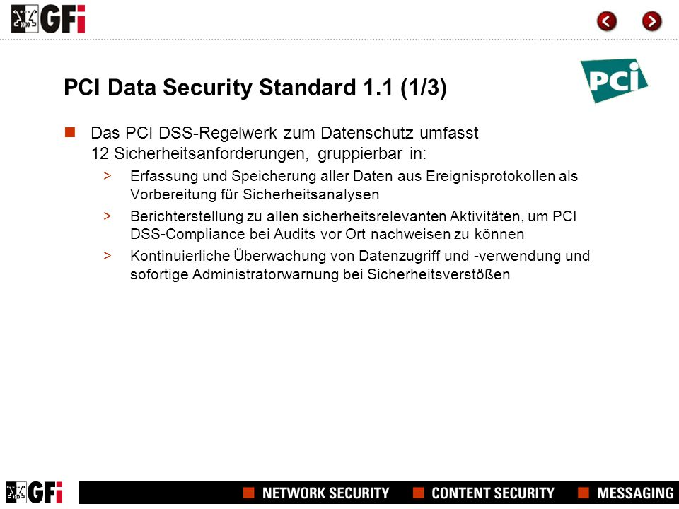 PCI Data Security Standard 1.1 (1/3)