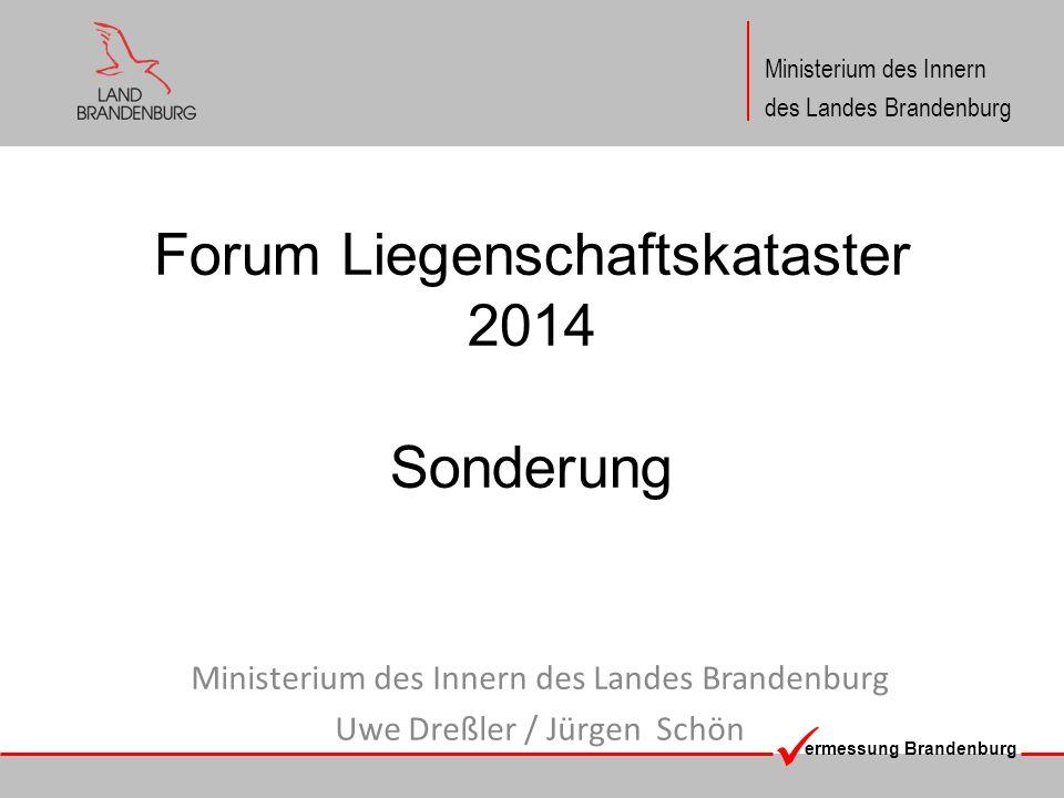 Forum Liegenschaftskataster 2014 Sonderung