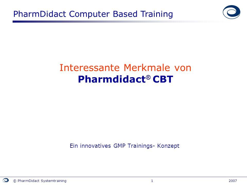 Interessante Merkmale von Pharmdidact® CBT