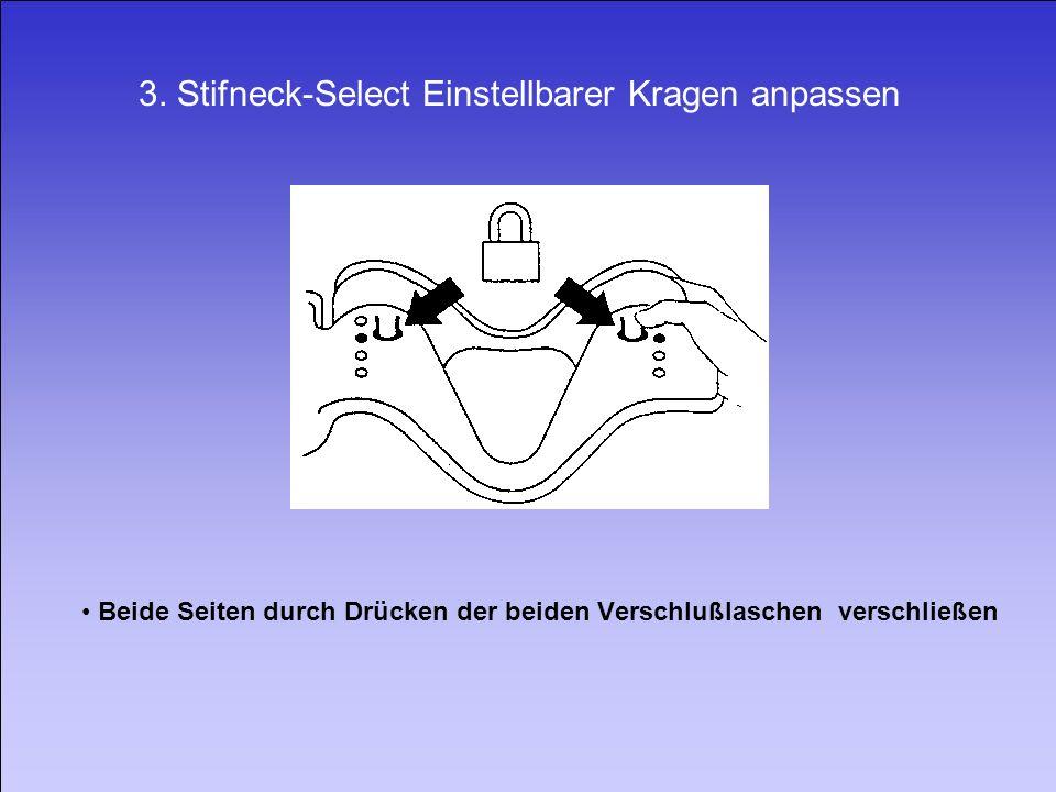 3. Stifneck-Select Einstellbarer Kragen anpassen