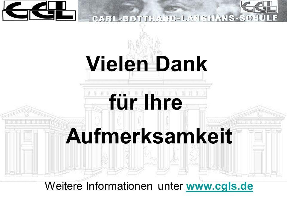 Weitere Informationen unter www.cgls.de